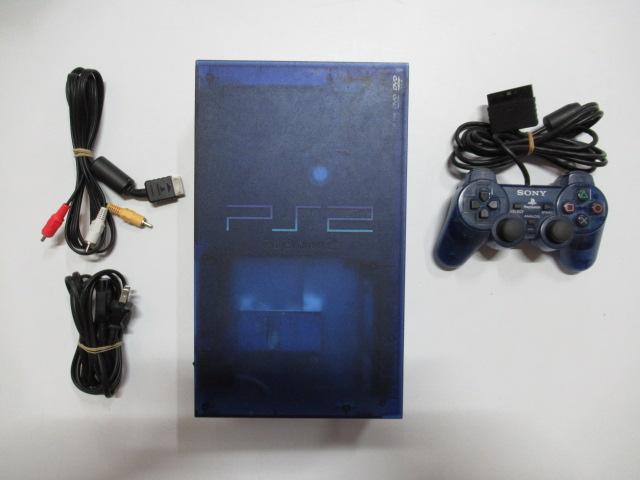 PS2_37000オーシャンブルー箱なし/PS2本体