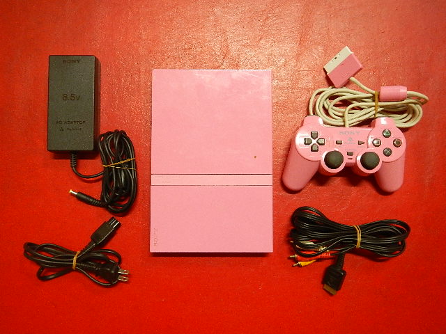 PS2_77000ピンク_PS2本体