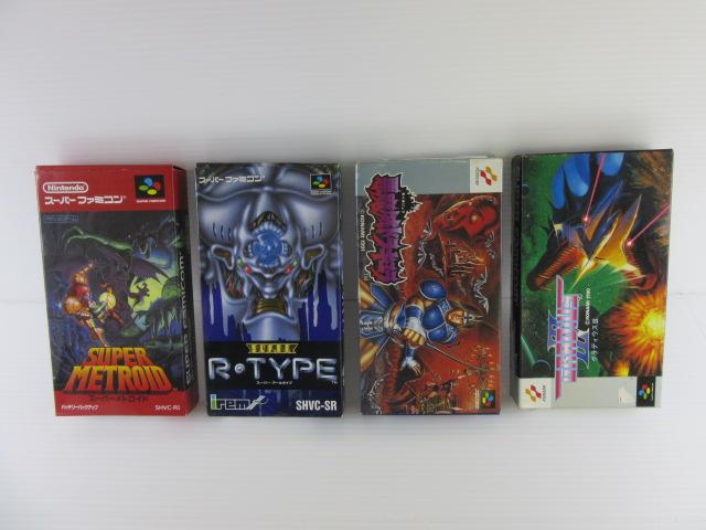 ファミコンソフト「魂斗羅」、「沙羅曼蛇」、スーパーファミコンソフト「スーパーメトロイド」などのゲームを買取!