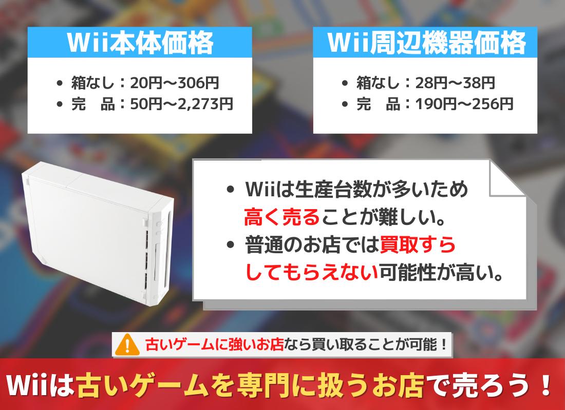 【処分はNG】Wiiは買取可能!本体・周辺機器のカラー別、箱なし状態の買取価格について